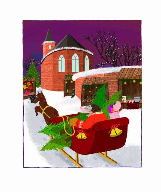 Moffel en Piertje vieren sinterklaas/kerst |Doesjka Bramlage