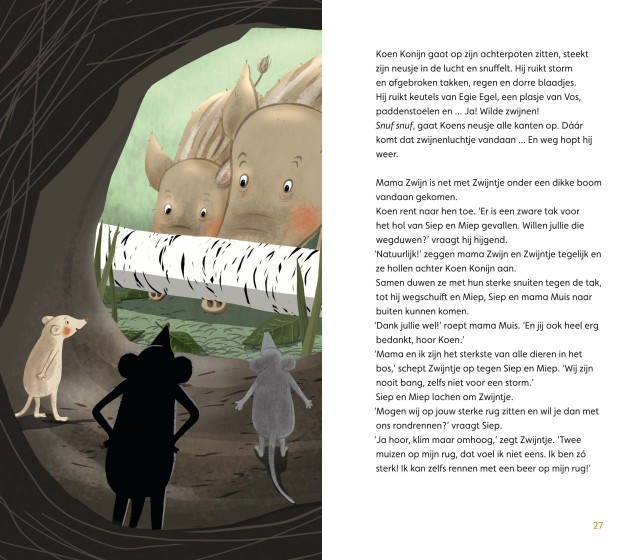 'Vriendjes in het bos' | doesjka bramlage illustratie